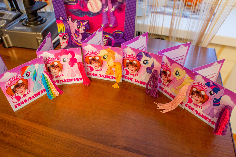 пригласительные литл пони макет термобельем для детей