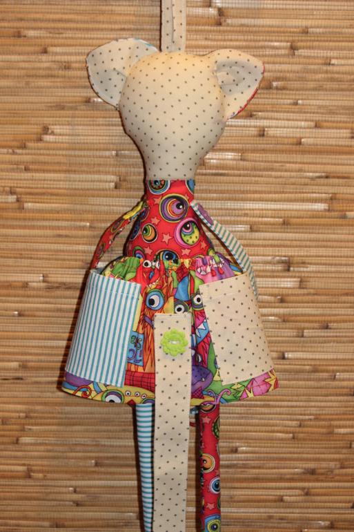 Кукла для резинок и заколок своими руками 97