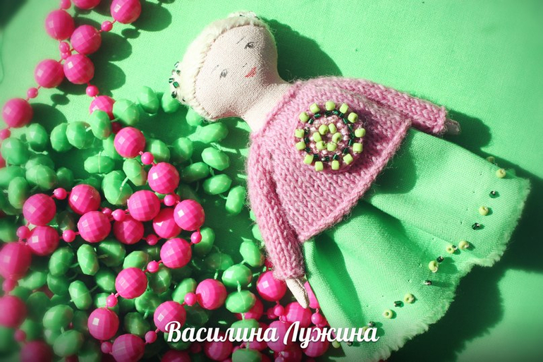 "Кукла-брошка ""Краски Тропиков"" 3"