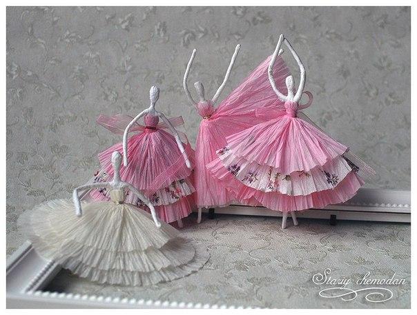 Балеринки из салфеток