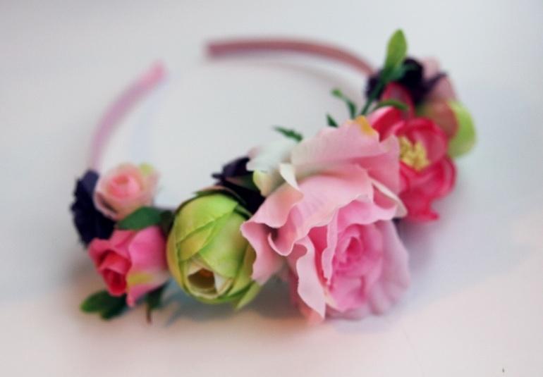 Цветочные ободки-венки