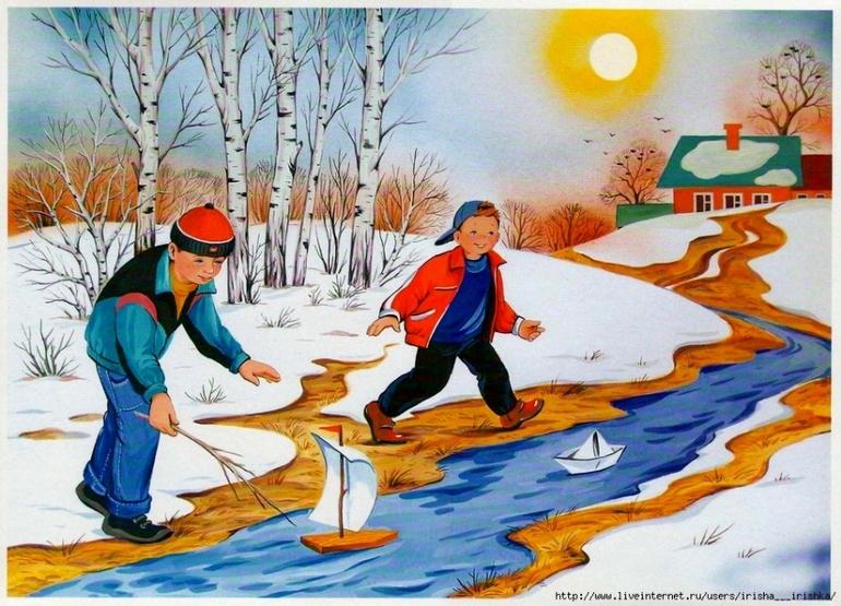 Картинки весны и детей