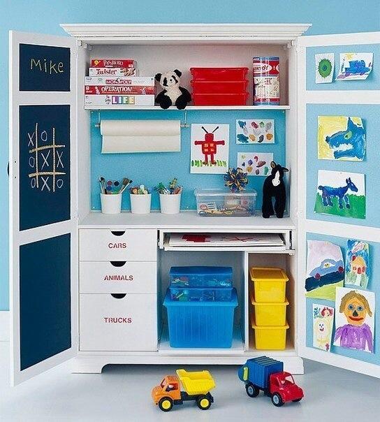 Организация пространства в детской комнате.