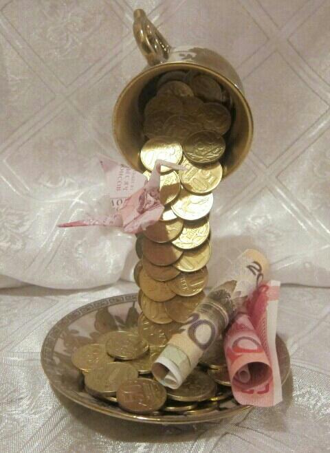 Поделки деньги из кружки