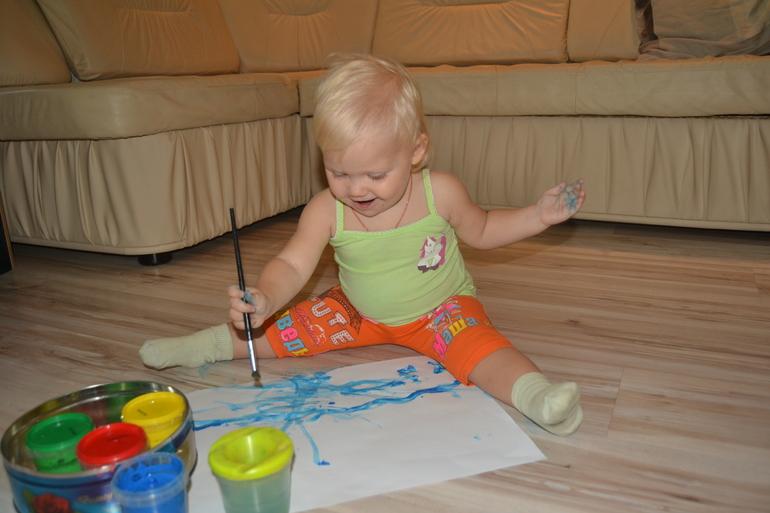 Юная художница-Вероничка