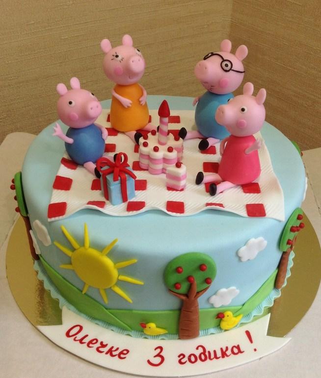 Торт свинка пеппа фото