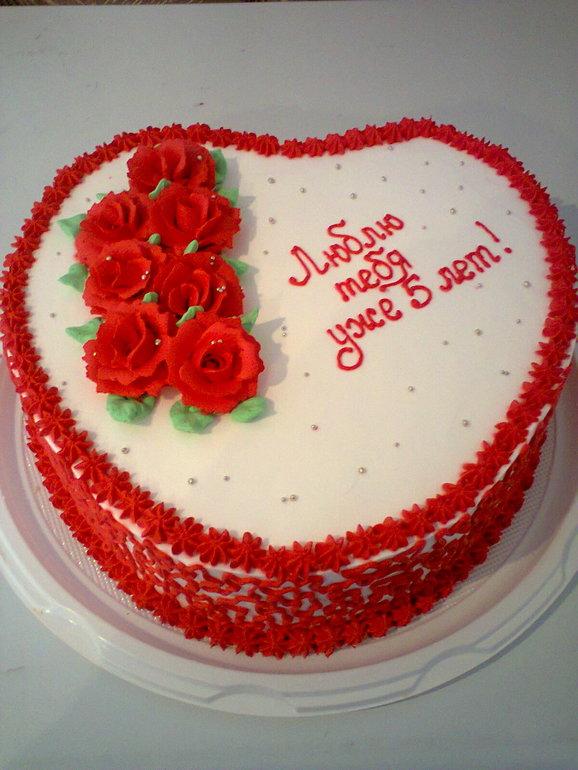 Украшение торта на годовщину свадьбы
