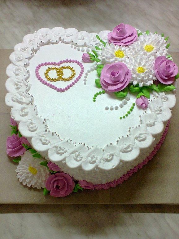 Как украсить торт к годовщине свадьбы своими руками