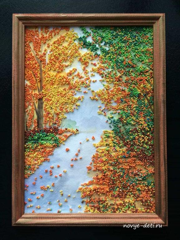 Картина  из пшена