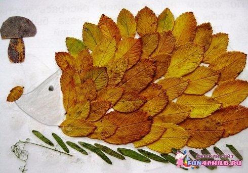 Поделка из листьев на тему осень для детского сада