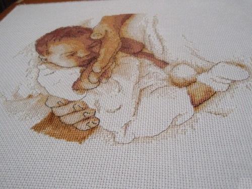 Вышивка спящий малыш схемы 536