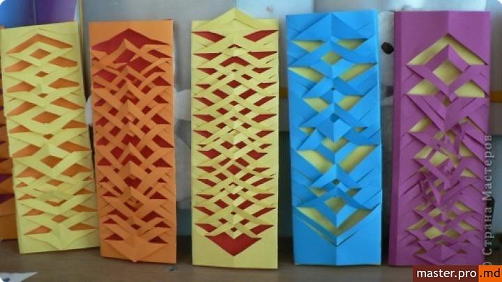 Закладки из цветной бумаги
