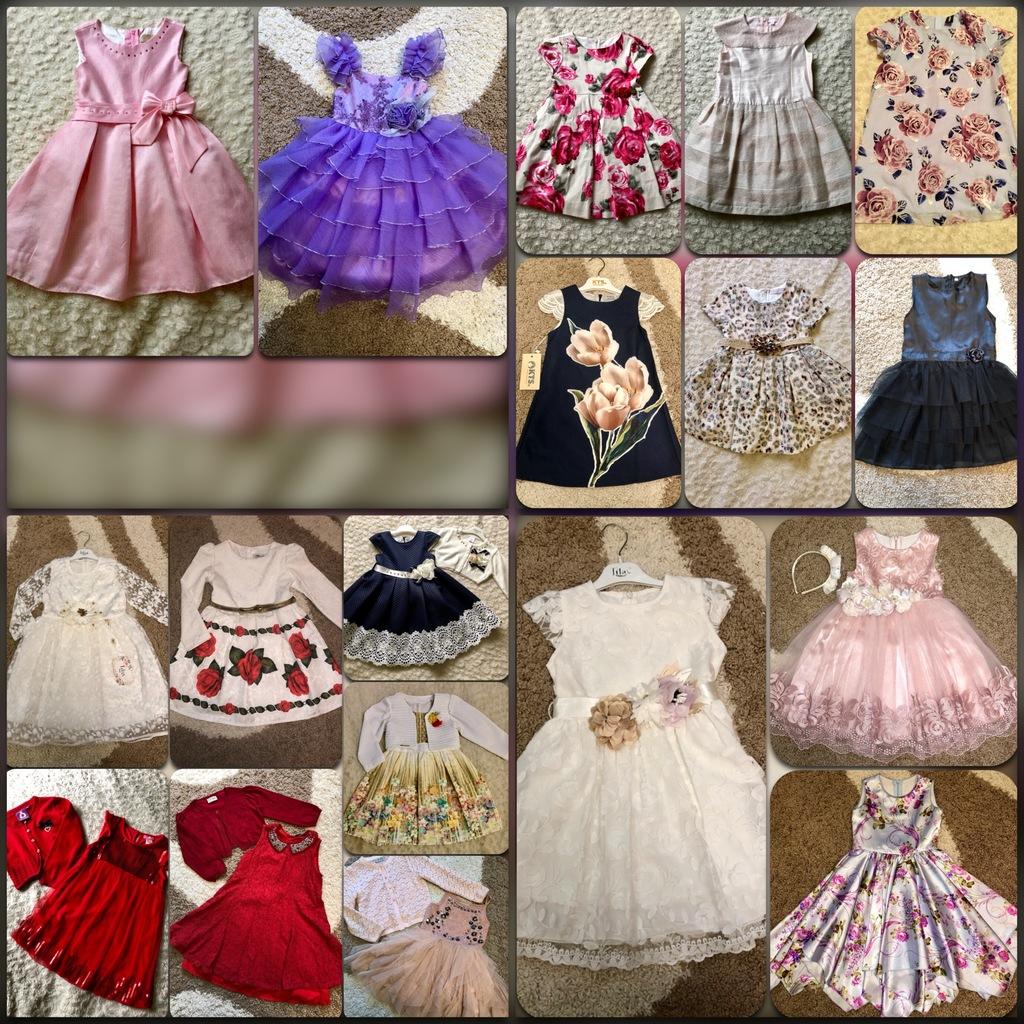 Много нарядных праздничных платьев р.104-110-116