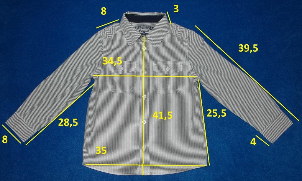 Рубашка с длинным рукавом, 104 см