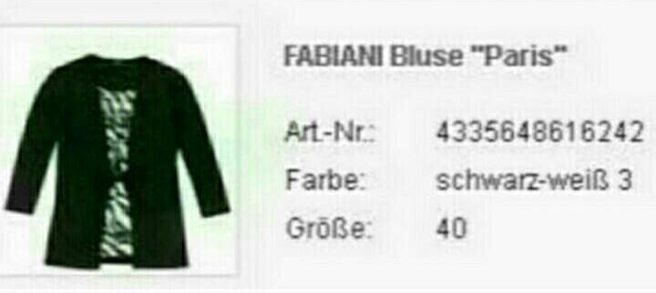 Блуза Fabiani, нем.р.40