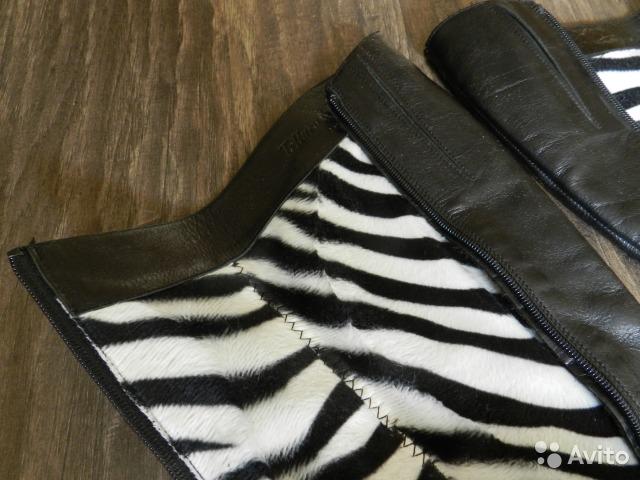 Сапоги (натуральная кожа) на тонкую ножку, 35-36 р