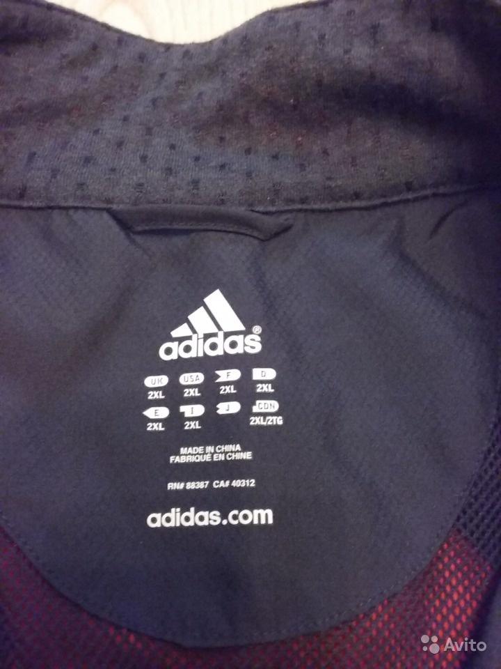 Новая ветровка Adidas рр 2xl (российский 54-56)