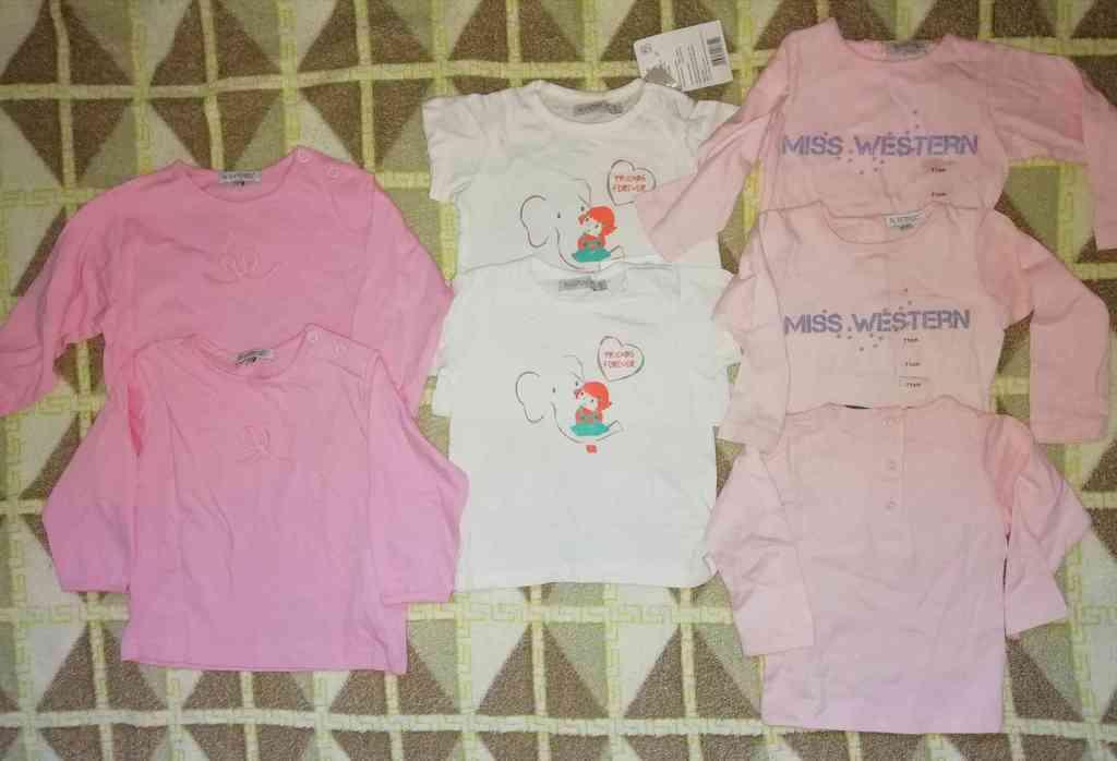 Пакет одежды для малышек р. 71 (7шт)