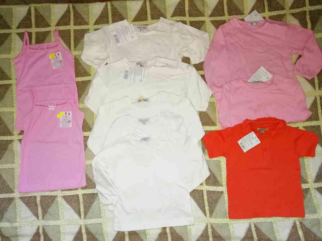 Пакет одежды для малышек р. 74 (10шт)