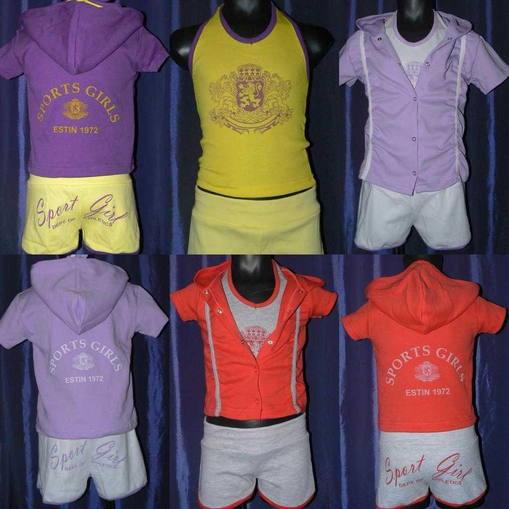 Новые, летние  комплекты для девочек