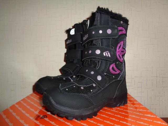 Зимние сапожки Милтон для девочки, новые