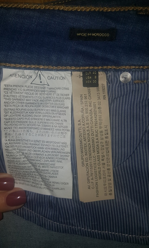Джинсовая юбка  Massimo Dutti р. 40(46 роc.)