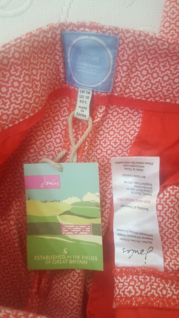 Жаккардовые брюки-капри Joules р. 14 UK (48 рос.)