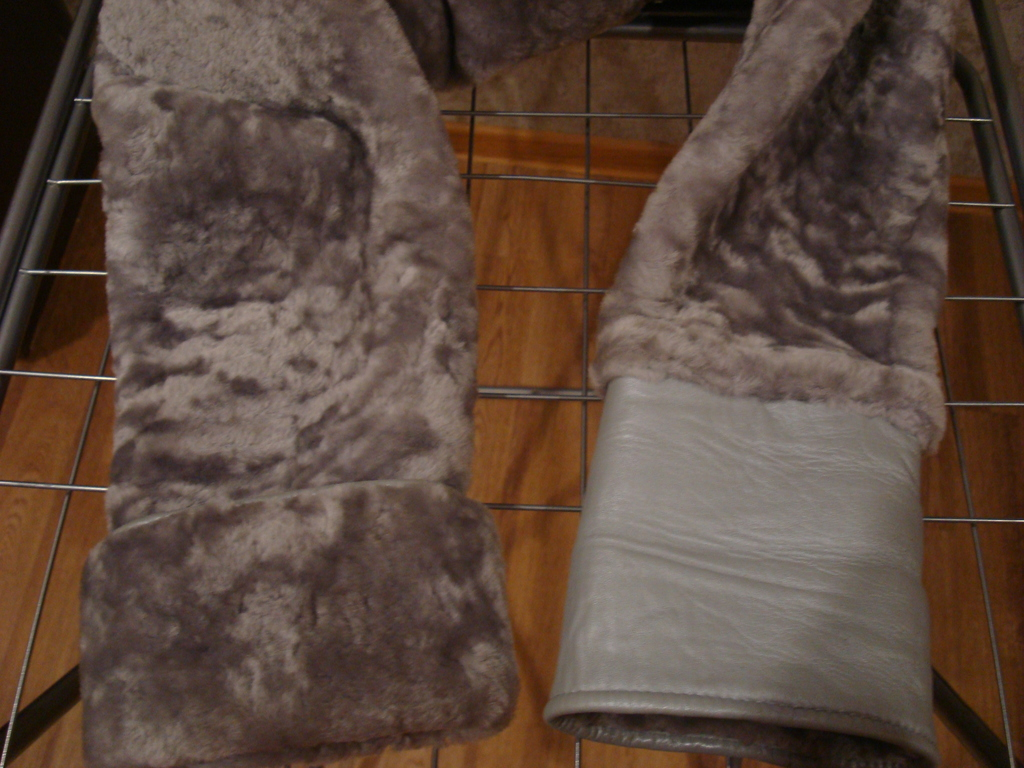 Шуба полушубок мутон с чернобуркой 48-50