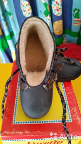 Новые ботинки Furetto италия нубук еврозима 25
