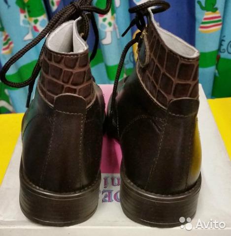 Новые кожаные демисезон ботинки 29 Италия