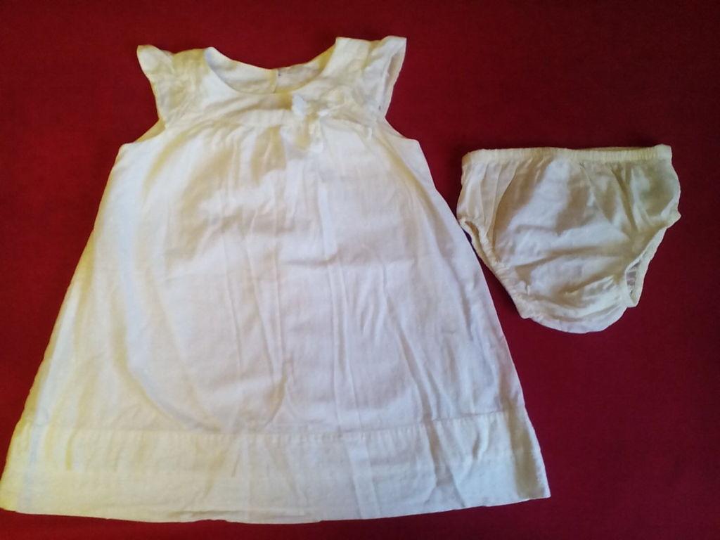 Платье Mothercare 12-18 м с трусами