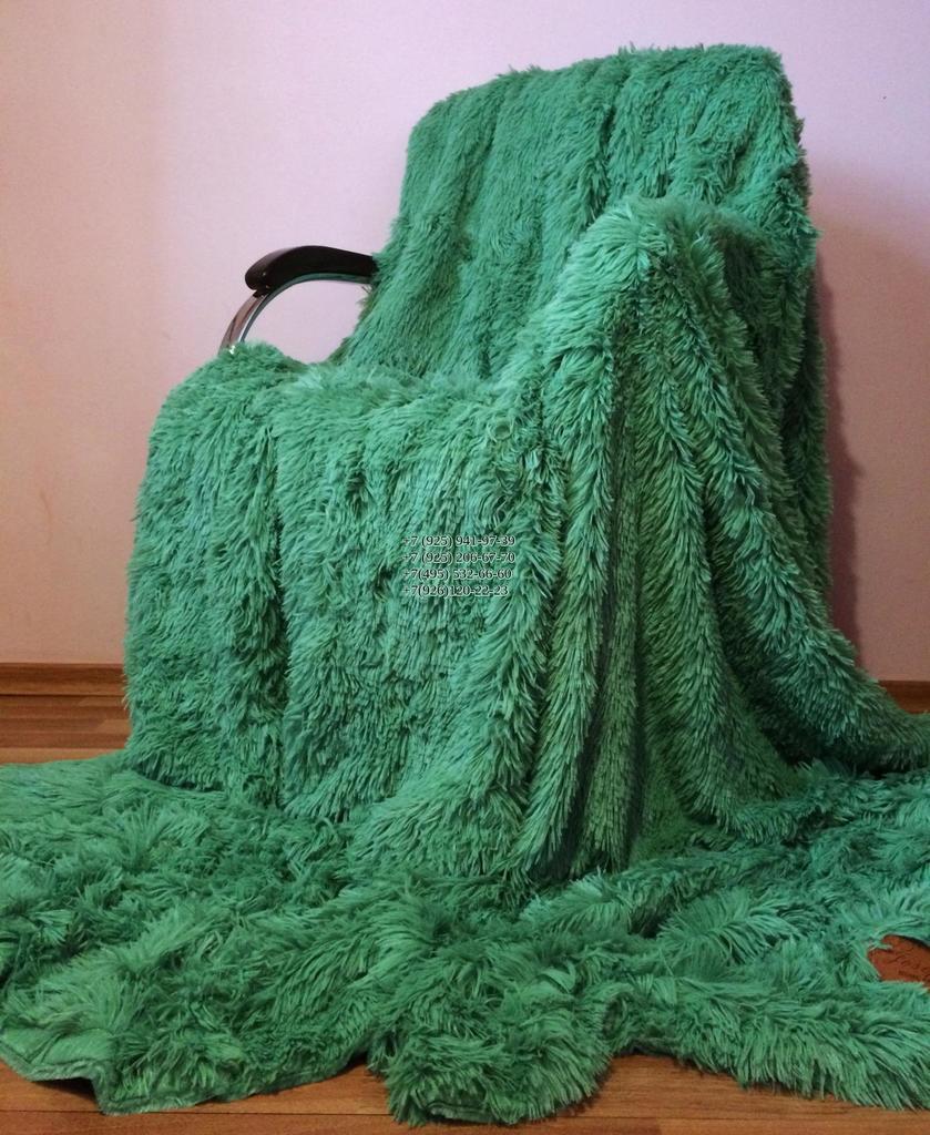 Новое покрывало Длинный ворс зеленый 220*240