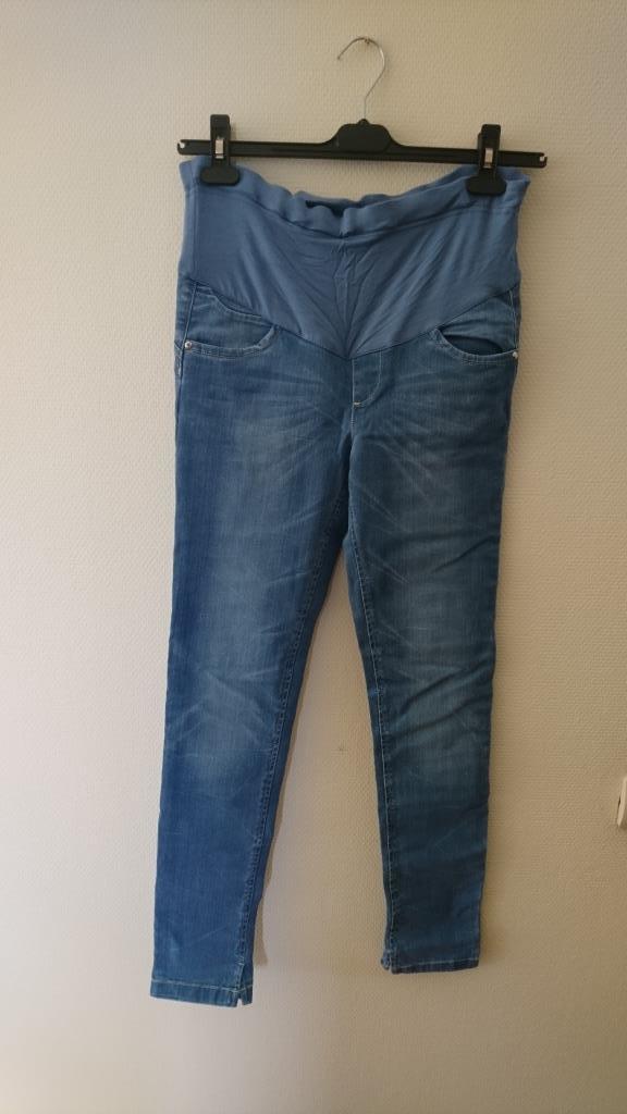 Голубые джинсы для беременных 44 р