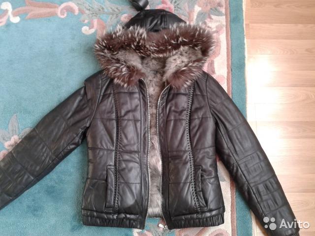 кожаная куртка 42