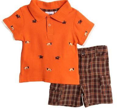 """Комплект: поло с вышивкой и шорты """"Сафари"""""""