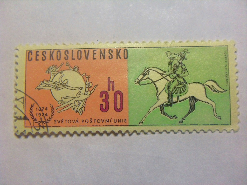 Марка 30h Чехословакия 1974 год