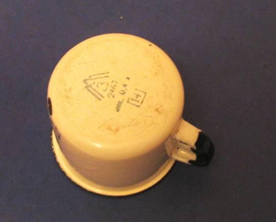 Советская СССР детская чашка кружка эмалированная