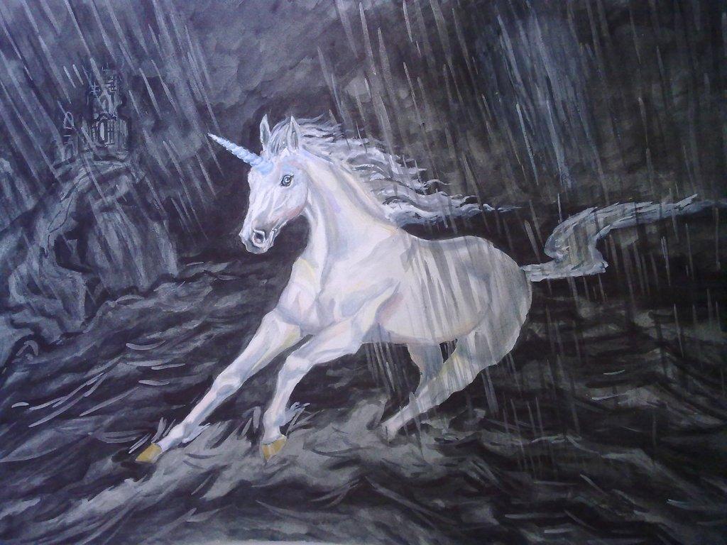 Картина Единорог, Лошадка, Кони, Лошадь