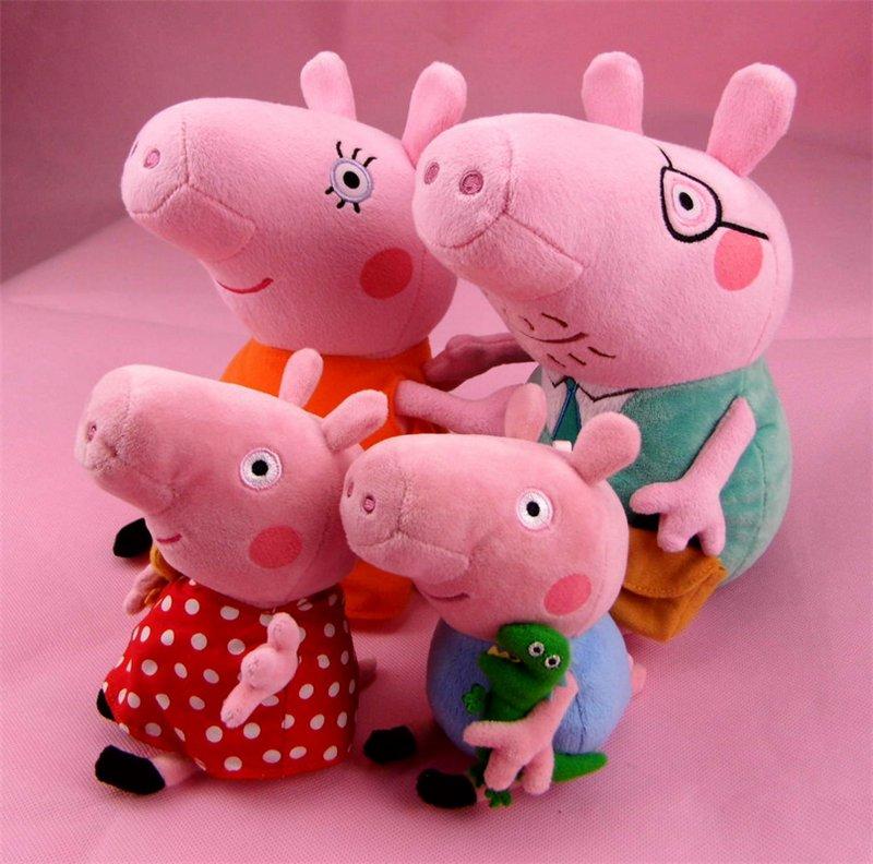 Купить мягкую игрушку семью свинки пеппы