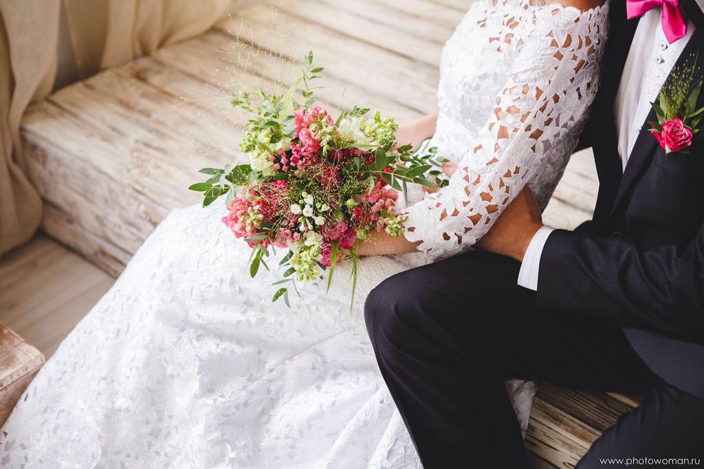 Свадебное Платье ручной работы