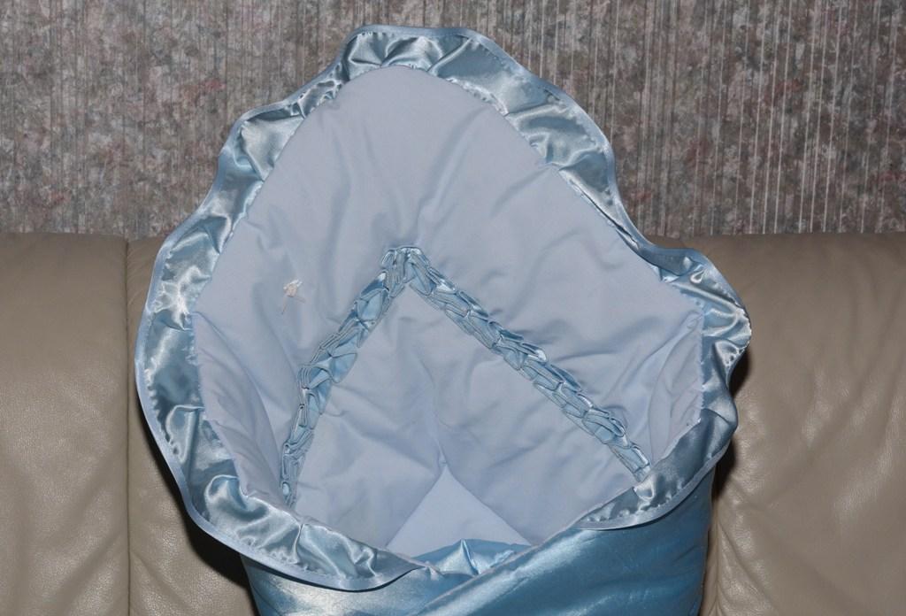 нежно-голубой конверт-одеяло Санта Бант