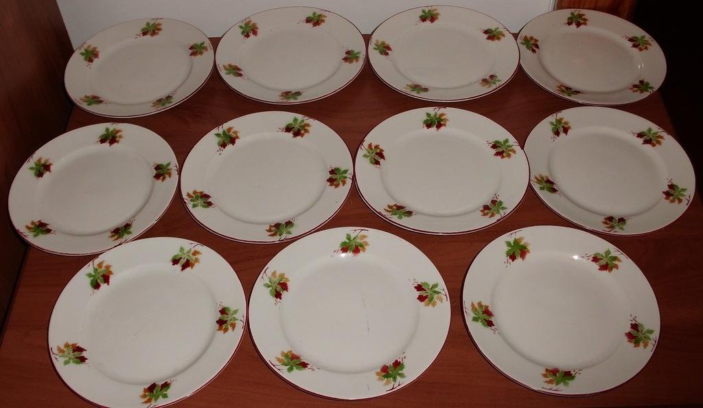 Тарелка блюдце 11 шт диаметр 15 см 1953-1957 СССР
