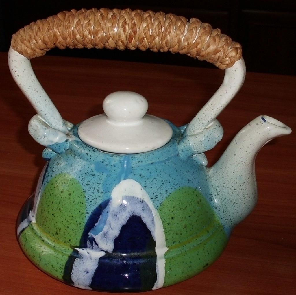 Керамический чайник 950 мл защищенная ручка
