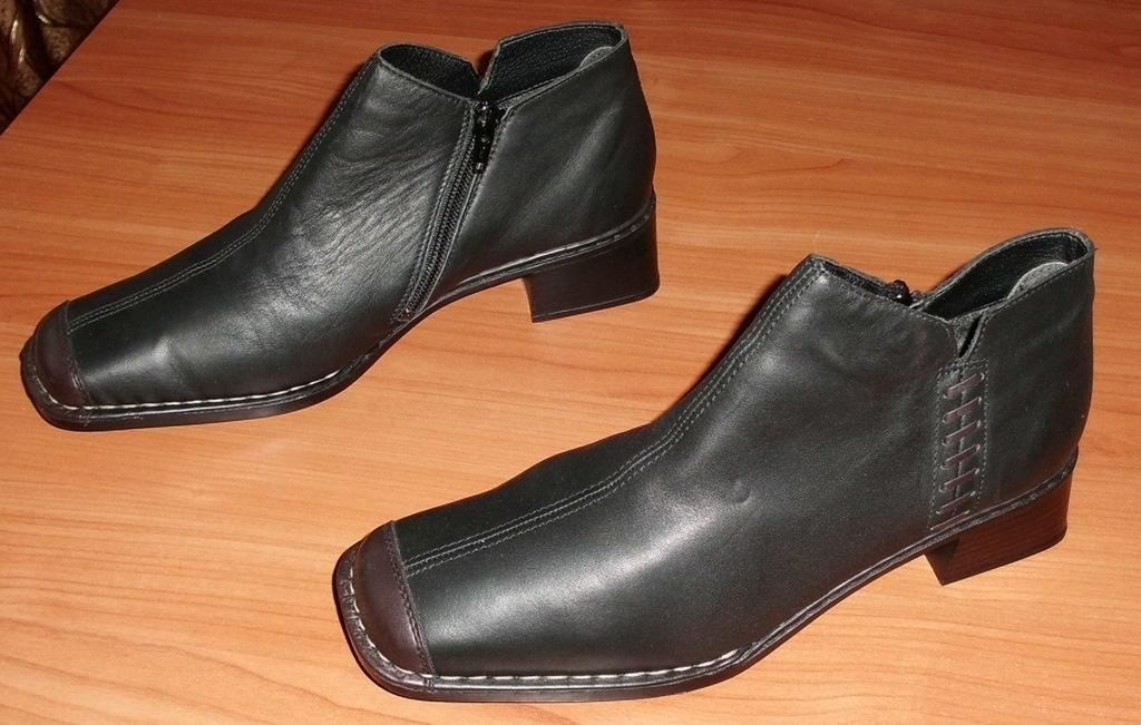 Новые ботинки Rieker натуральная кожа прошитые 40