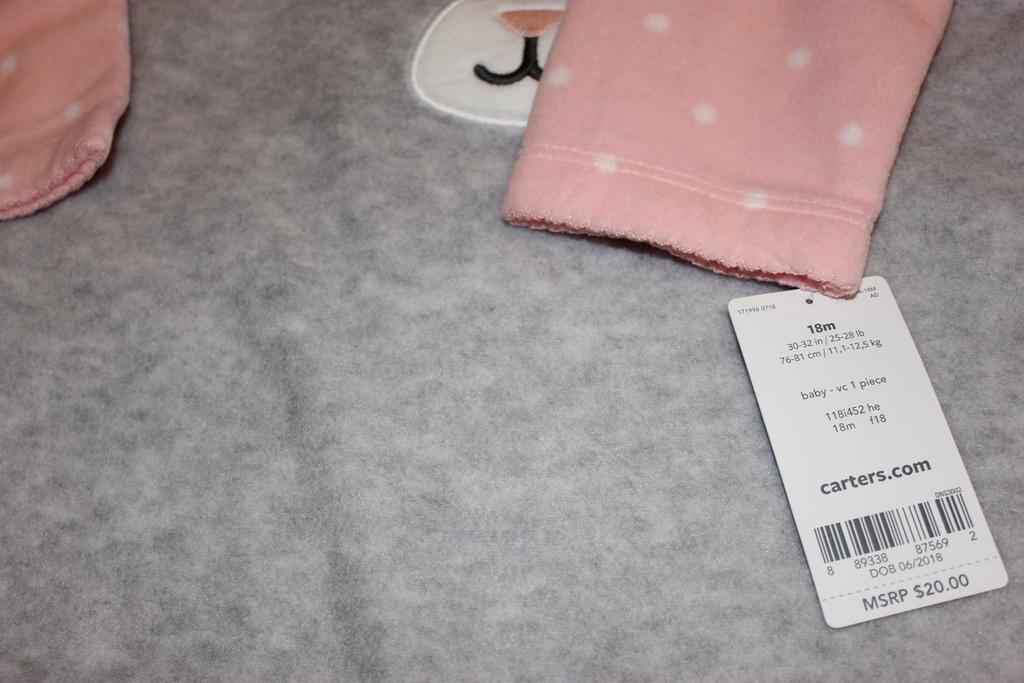 Флисовый комбинезон Carters,размер 18м(76 - 81 см)