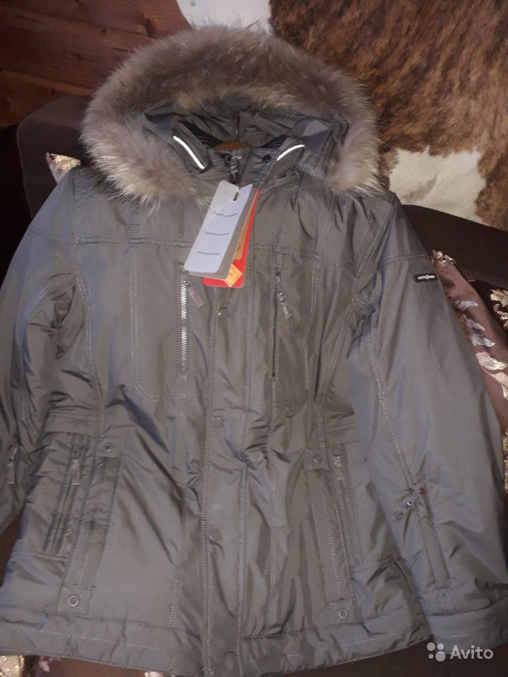 Куртка новая с енотом, 54 р-р