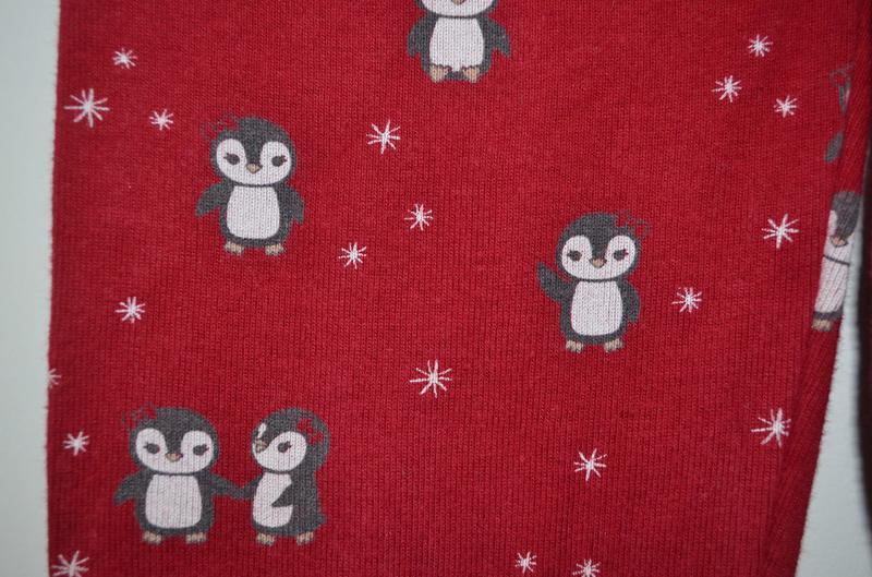 Леггинсы красные с пингвинами gymboree 2г. (84-91
