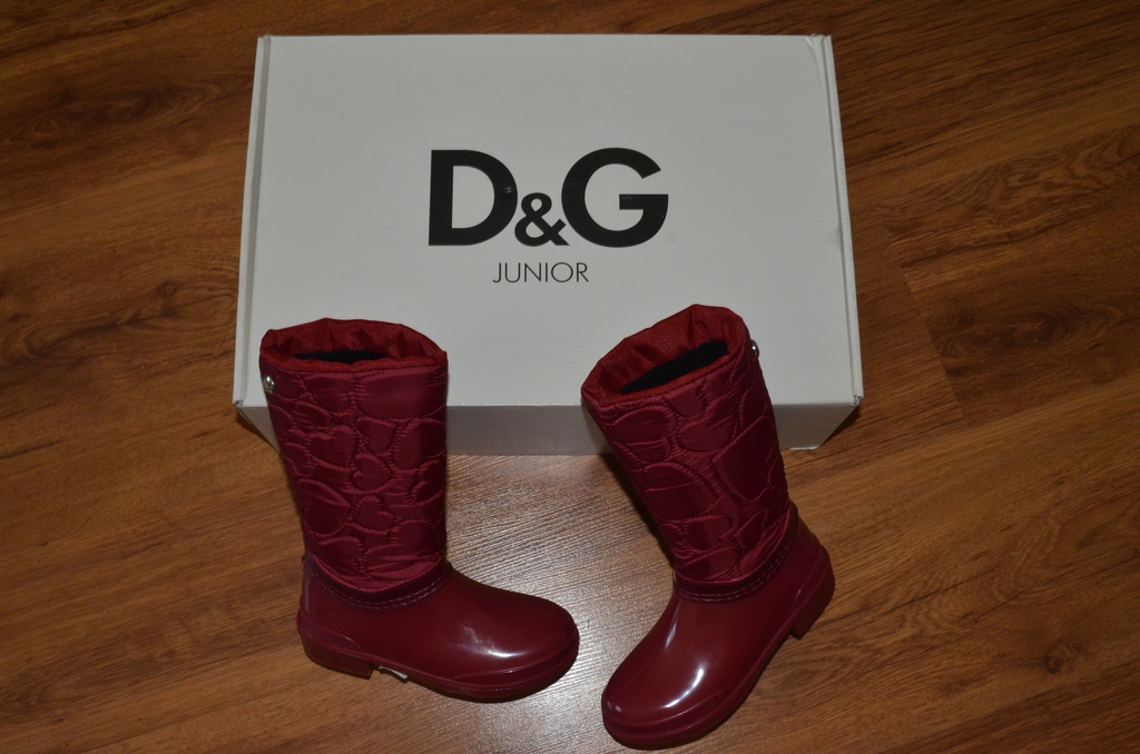 Новые утепленные резиновые сапоги D&G размер 28