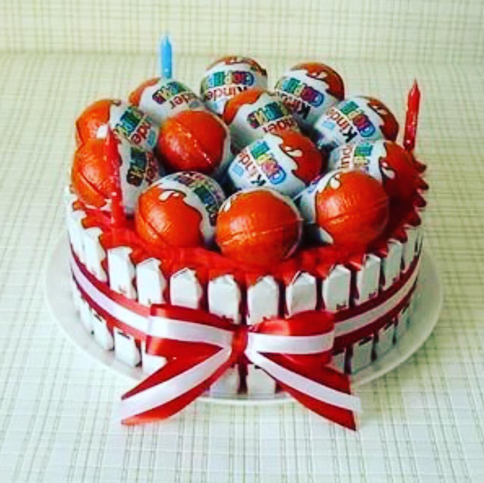 картинки с днем рождения торт из киндеров команда поможет