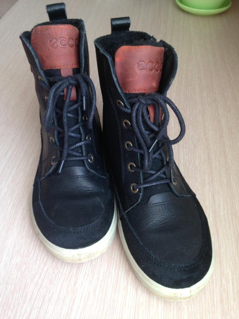 Ботинки кожаные Ecco